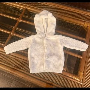 Carter's 3 month size White Hooded Cardigan